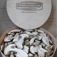 Белые грибы сушеные в подарочной коробке