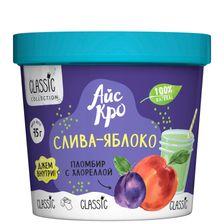 "Мороженое пломбир с хлореллой ""Слива-Яблоко"""