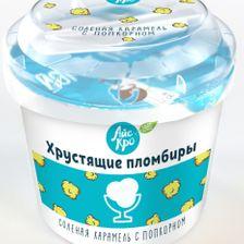 """Мороженое Пломбир """"Соленная карамель с попкорном"""