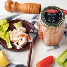 Мясо краба натуральное «Премиум», 770 грамм