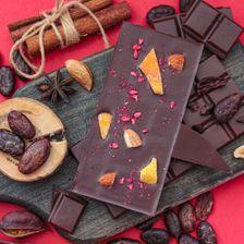 Шоколад горький 80% с манго, миндалем и малиной
