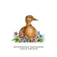"""Постер """"Утка в цветах"""""""