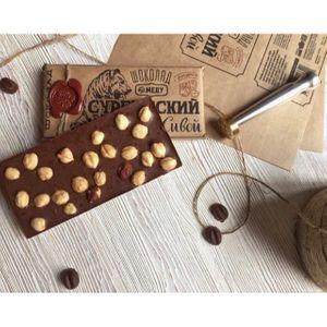 Живой шоколад на меду молочный с фундуком, 100 грамм