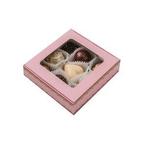 Ассорти конфет 9 шт. в розовой коробке