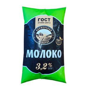 """Молоко """"Фермерский продукт"""" мдж 3,2% 900мл"""