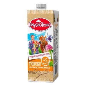Молоко ультрапаст. Вкуснотеево 950г 3,2% ТБСквэр