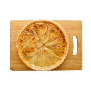 Пирог с грушей в сливочной заливке