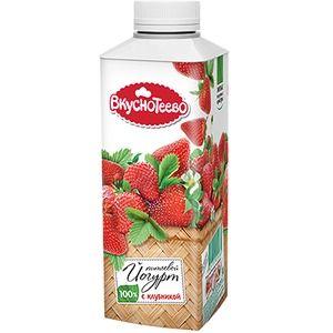 Йогурт пит. Вкуснотеево с клубникой 750г 1,5 %