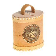Мёд в берестяном туесе (овальный)