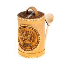Мёд в берестяном туесе (с ложкой) 1,5 кг