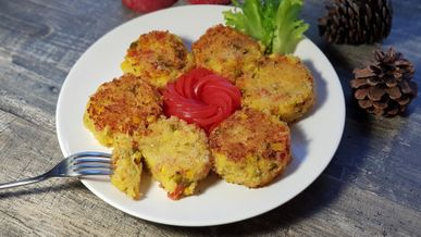 Картофельные зразы с овощами