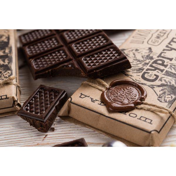 Живой шоколад на меду горький,100 грамм