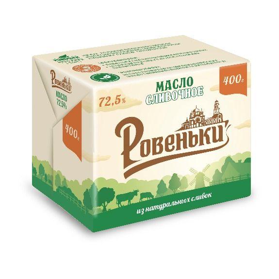 Масло сливочное 72,5% ТМ Ровеньки 400 г