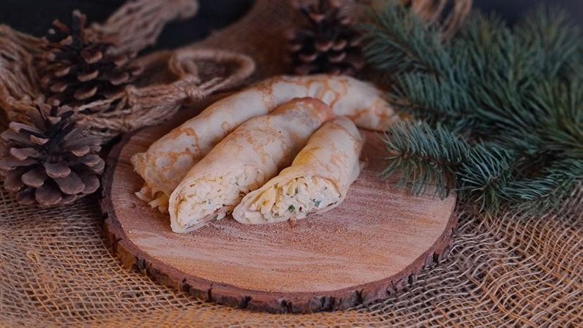 Блинчики с сыром и чесноком