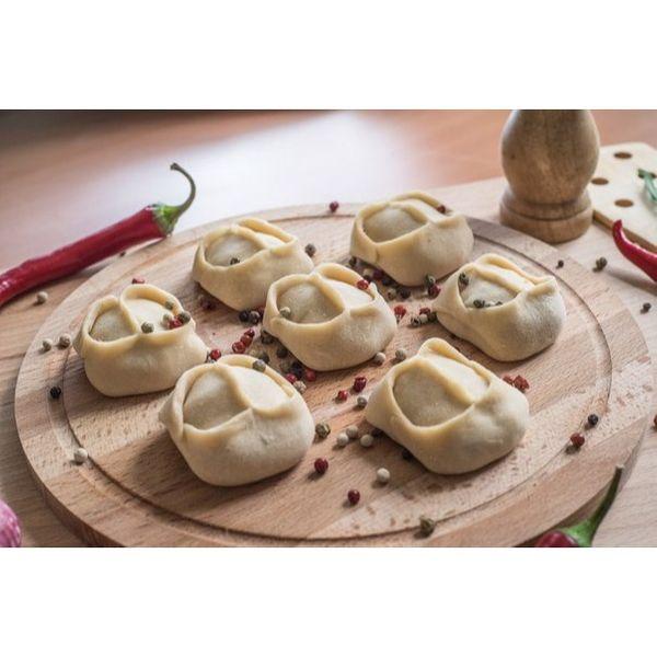 Манты из индейки с картошкой