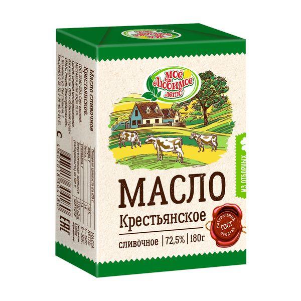 Масло Крестьянское сливочное, м. д. ж.  72,5%
