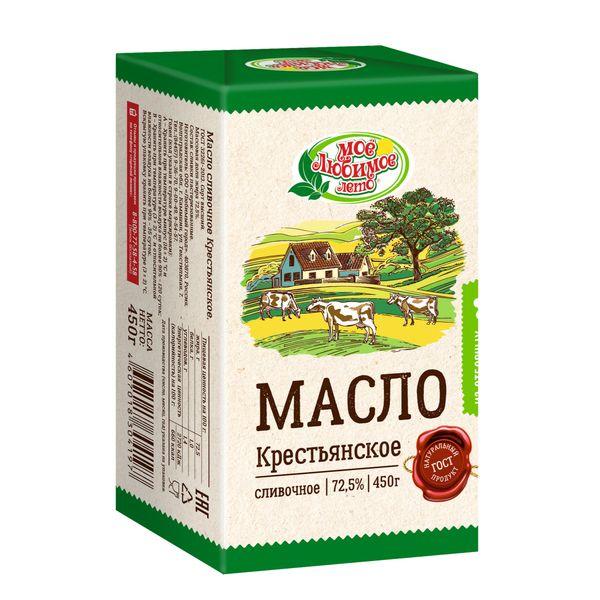 Масло Крестьянское сливочное, м.д.ж. 72,5%,