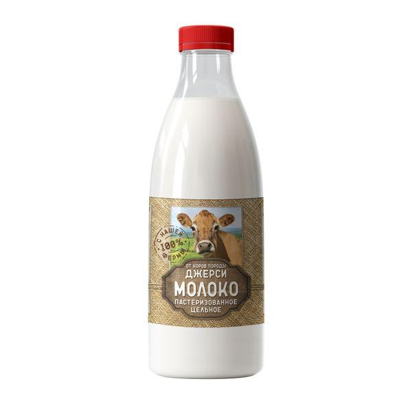 Молоко питьевое пастер. цельное 1000г Джерси